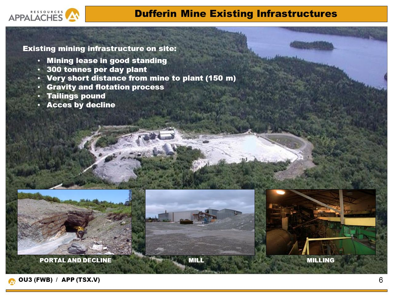 Dufferin Mine Existing Infrastructures