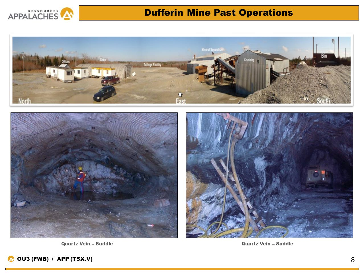 Dufferin Mine Past Operations