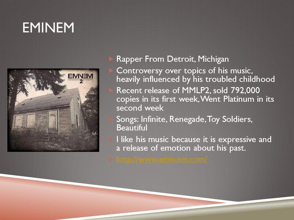 Eminem Rapper From Detroit, Michigan