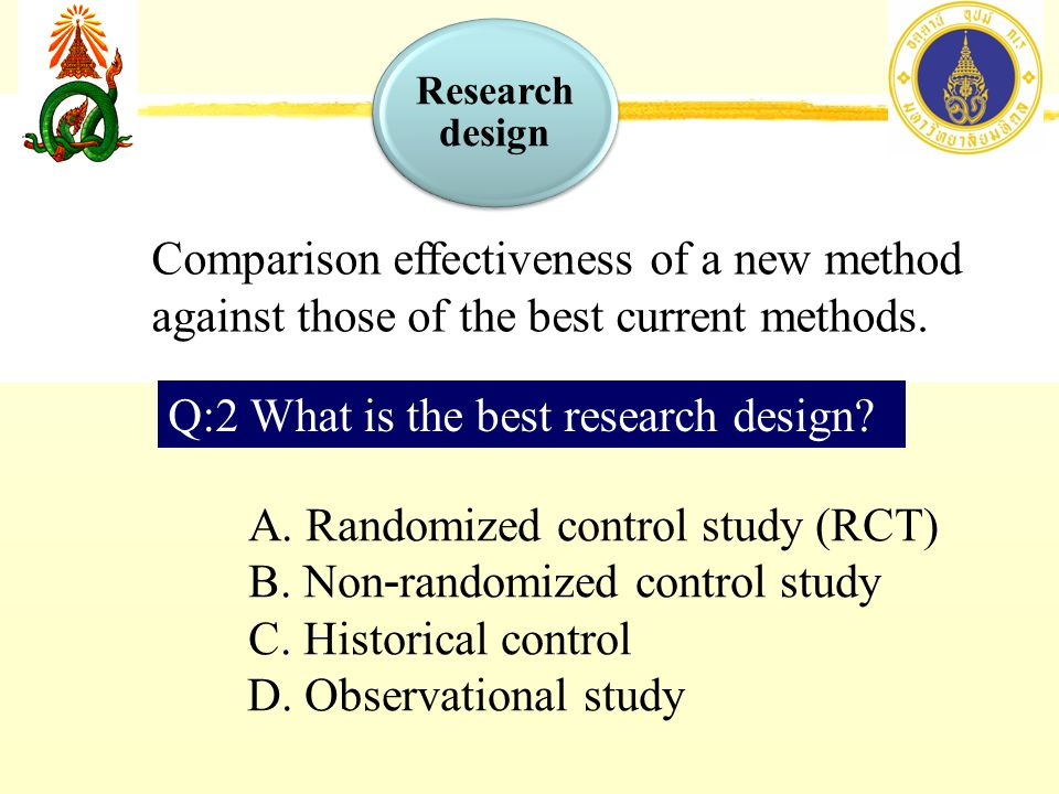 Comparison effectiveness of a new method