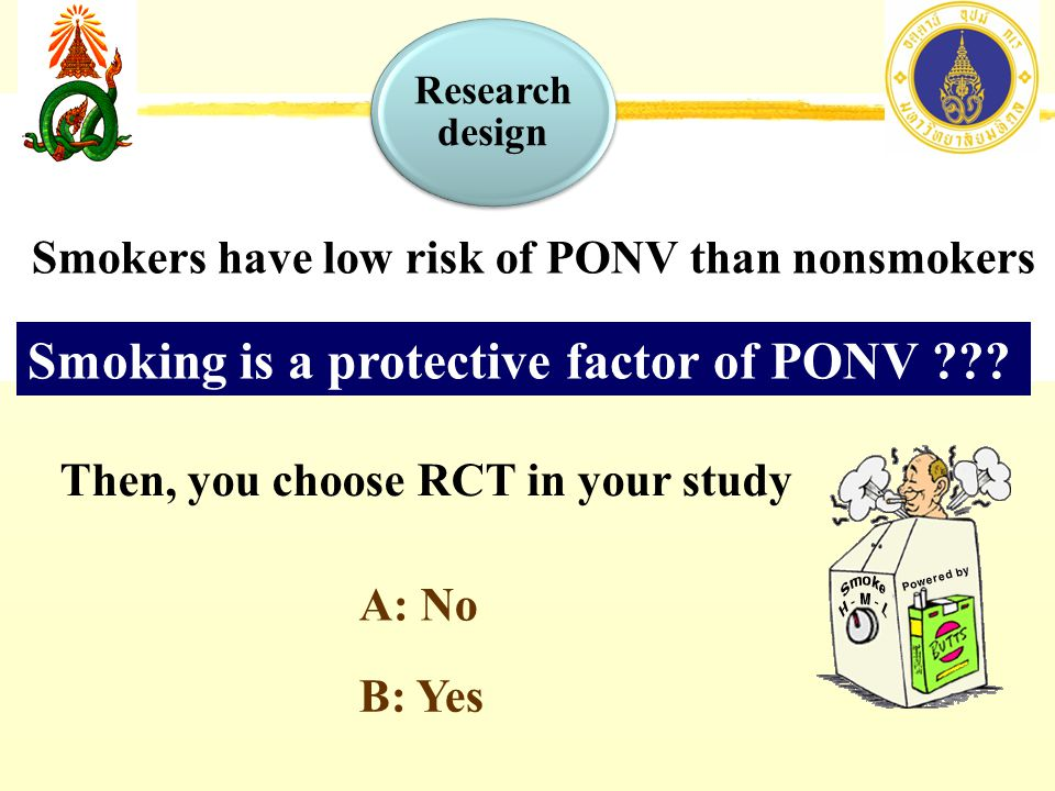 Smoking is a protective factor of PONV