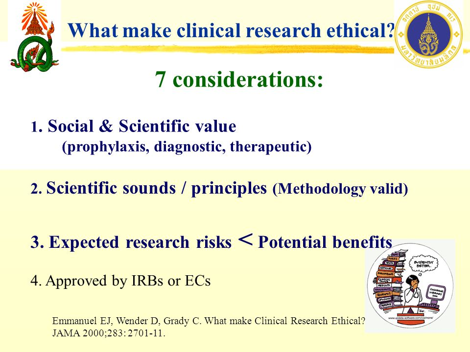 7 considerations: What make clinical research ethical