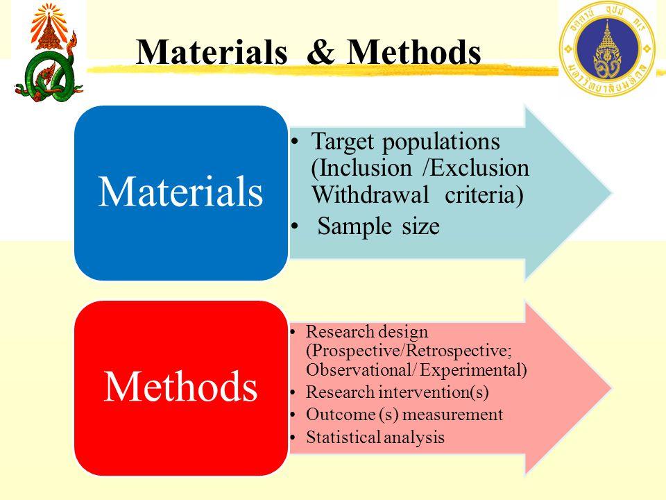 Materials Methods Materials & Methods