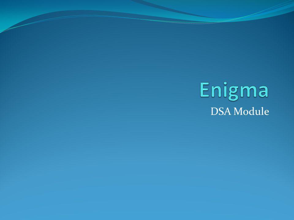 Enigma DSA Module