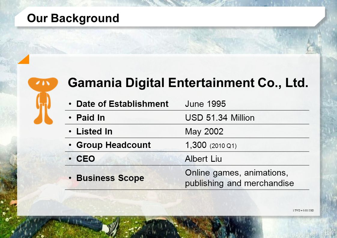 Gamania Digital Entertainment Co., Ltd.