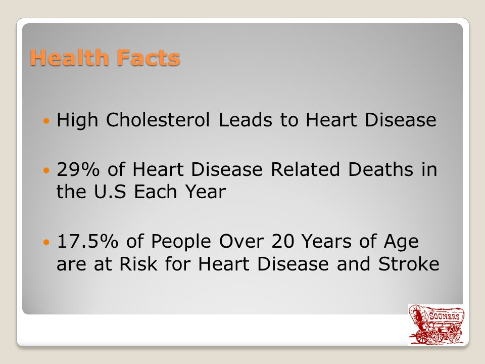 Health Facts High Cholesterol Leads to Heart Disease