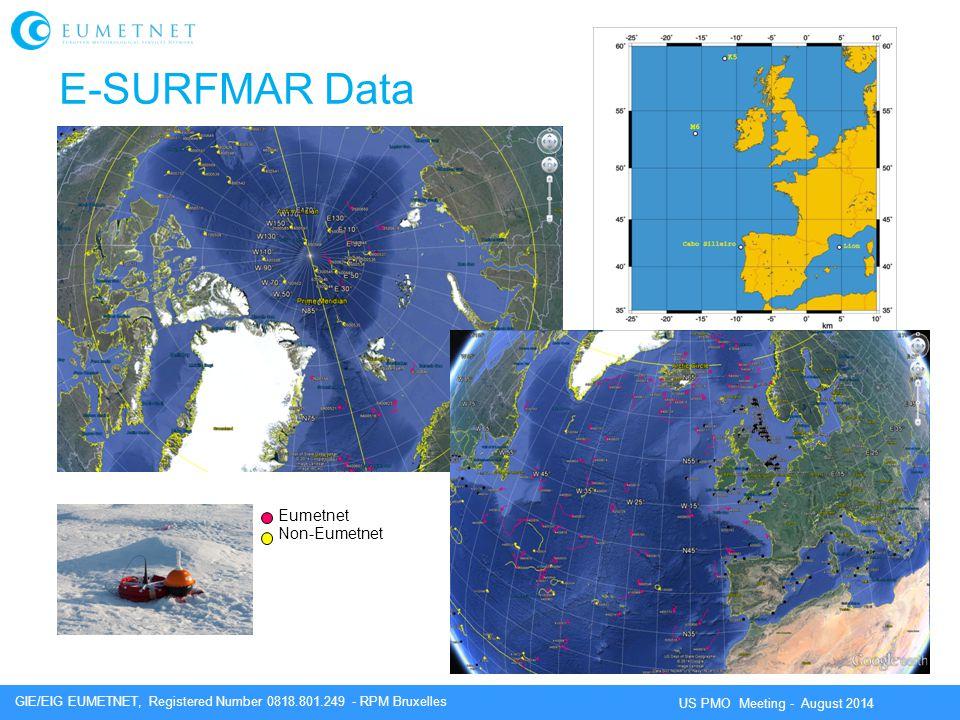 E-SURFMAR Data Eumetnet Non-Eumetnet