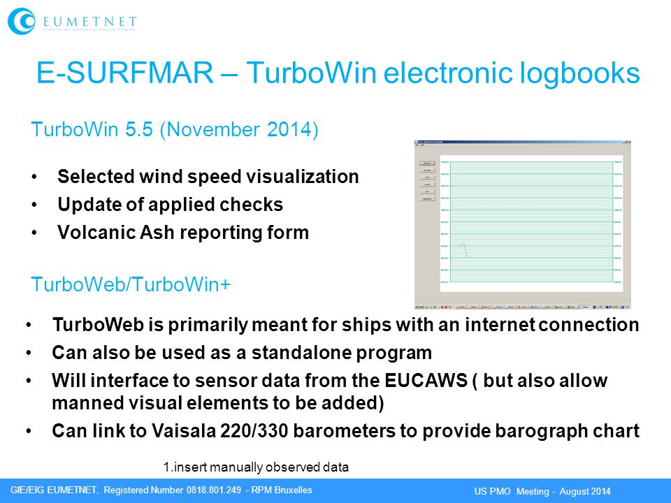 E-SURFMAR – TurboWin electronic logbooks