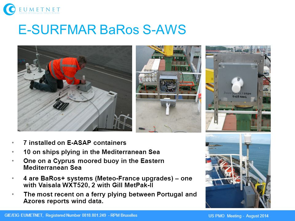 E-SURFMAR BaRos S-AWS 7 installed on E-ASAP containers