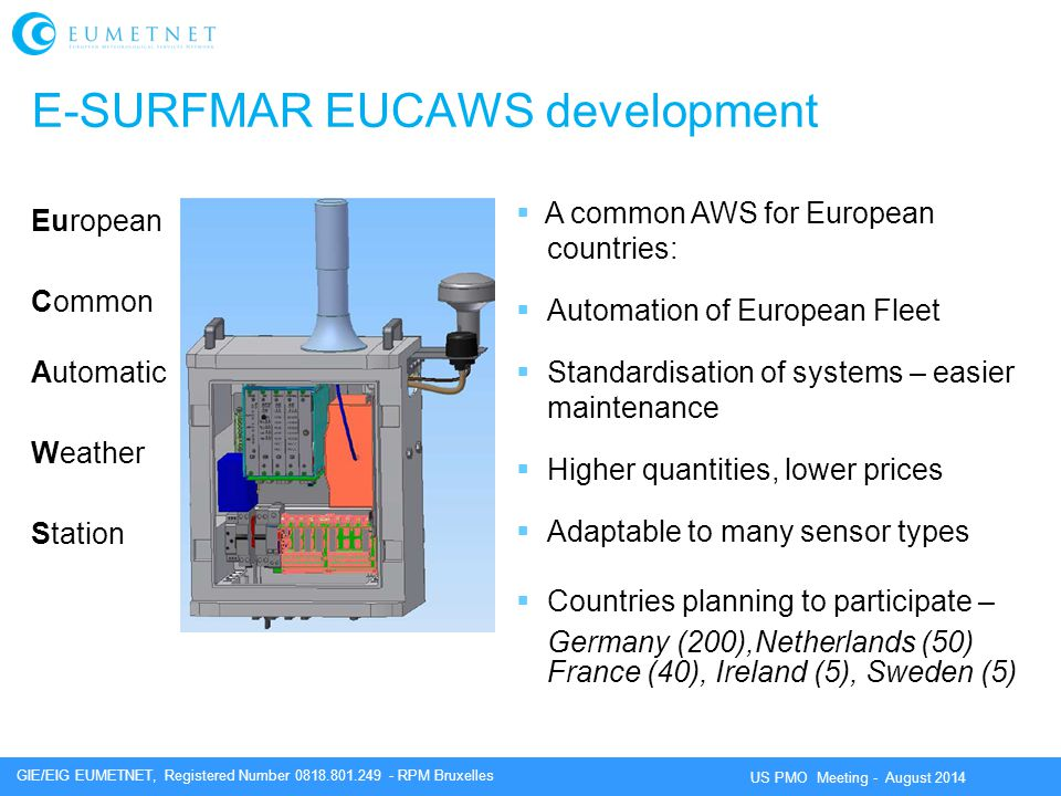 E-SURFMAR EUCAWS development