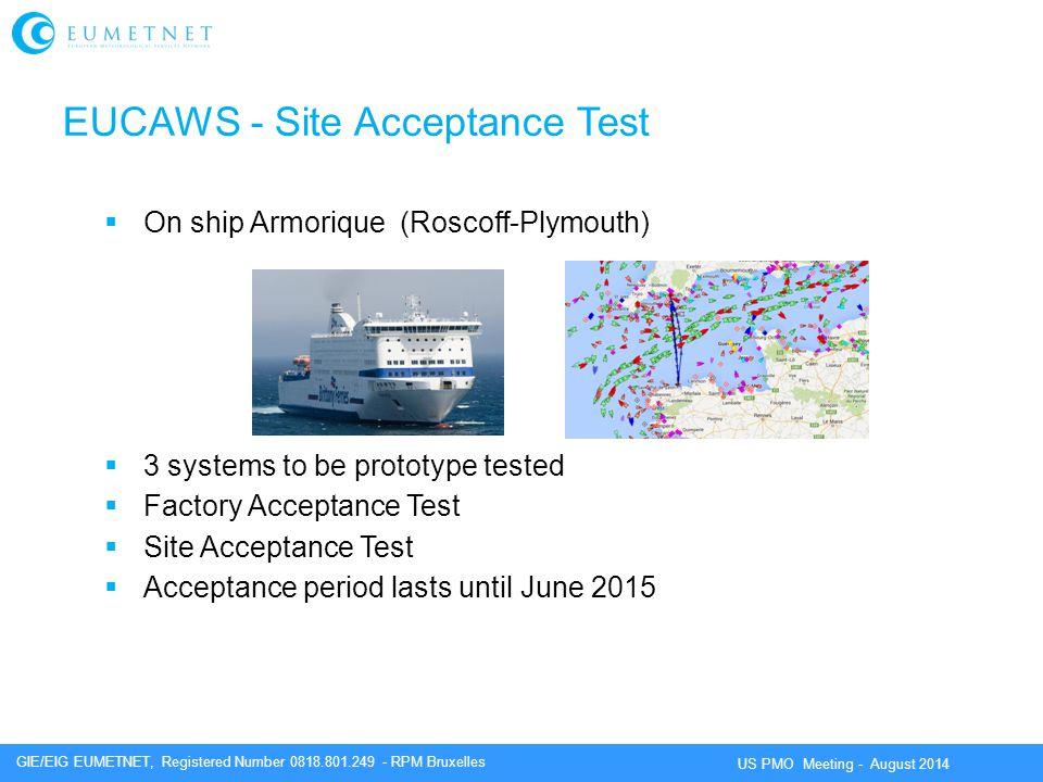 EUCAWS - Site Acceptance Test