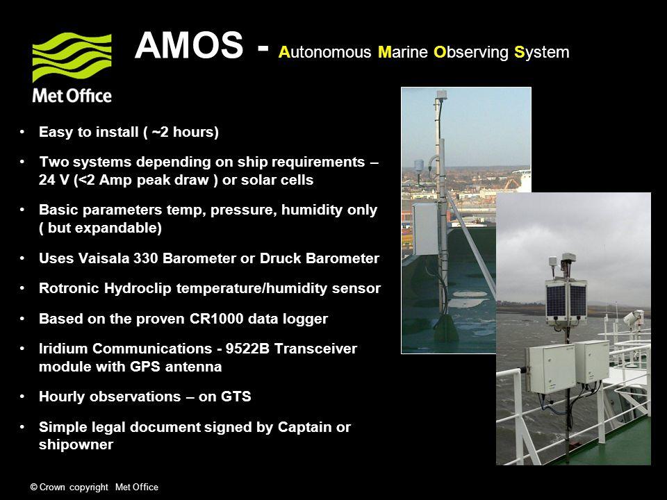 AMOS - Autonomous Marine Observing System