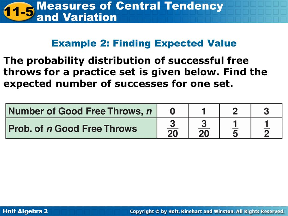 Example 2: Finding Expected Value