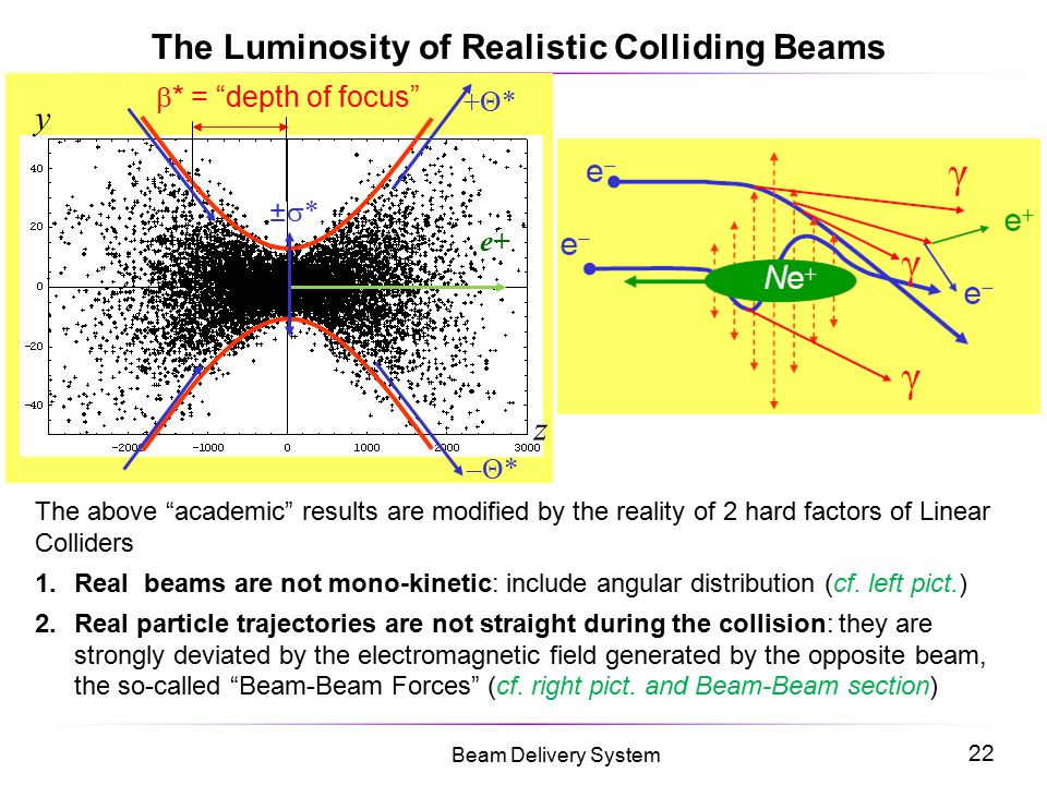 The Luminosity of Realistic Colliding Beams