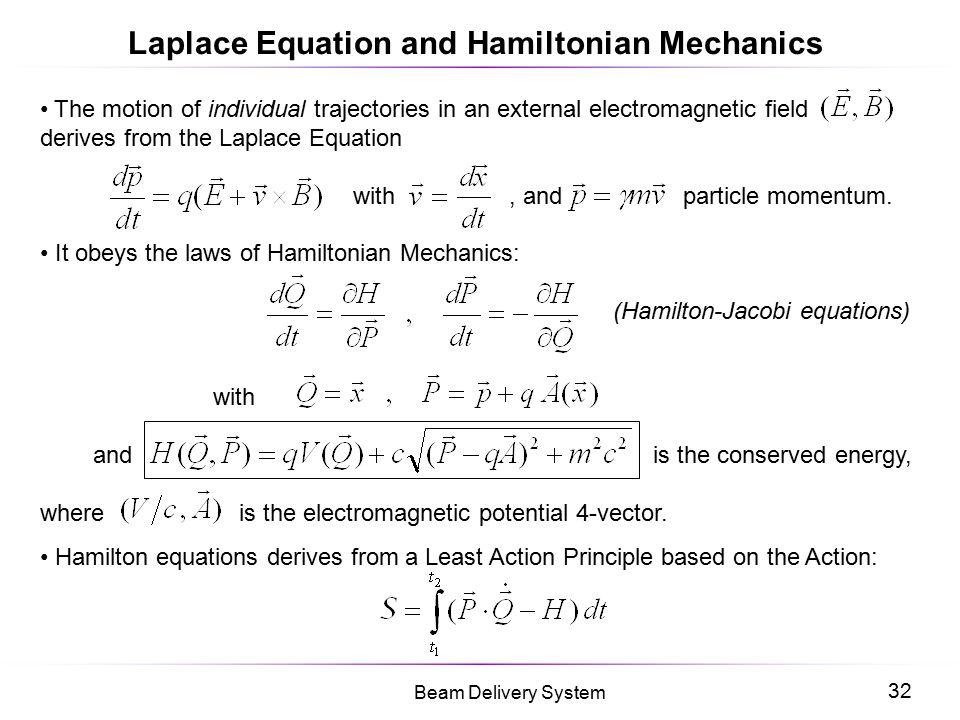 Laplace Equation and Hamiltonian Mechanics