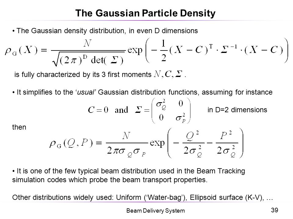 The Gaussian Particle Density