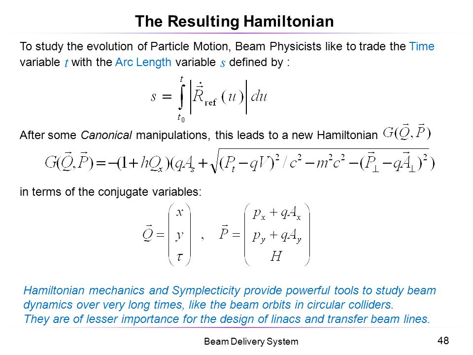 The Resulting Hamiltonian