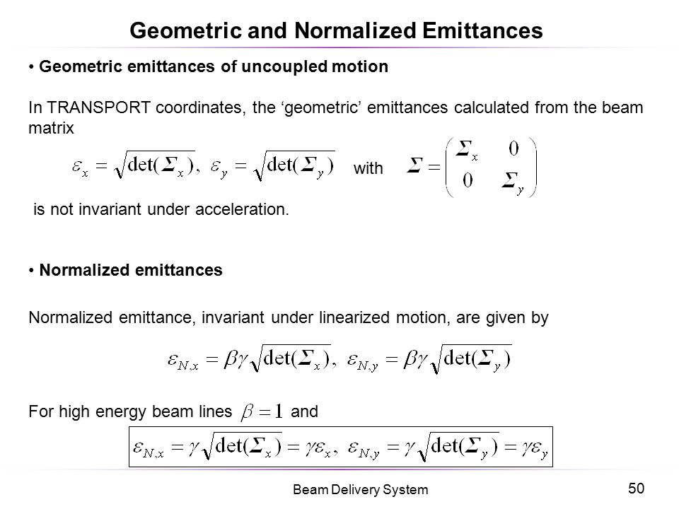 Geometric and Normalized Emittances