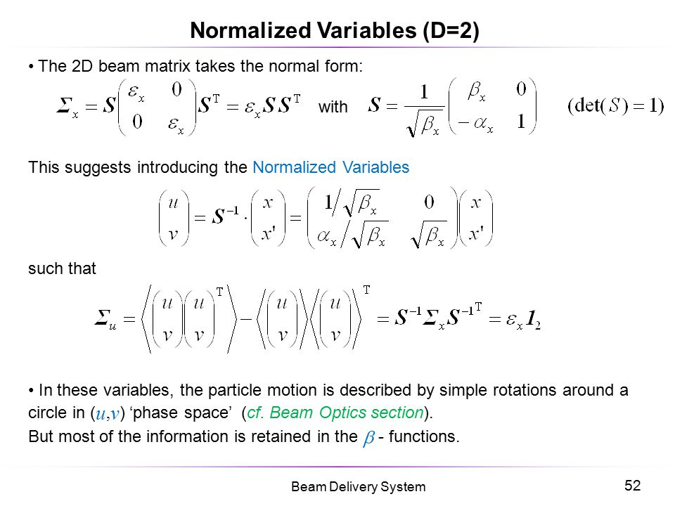 Normalized Variables (D=2)