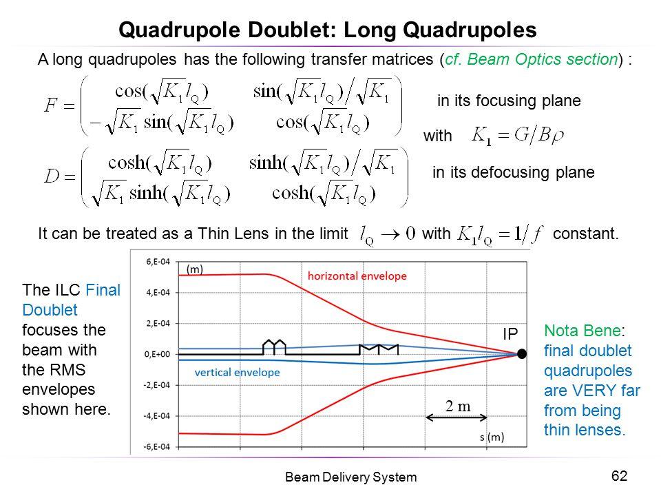 Quadrupole Doublet: Long Quadrupoles