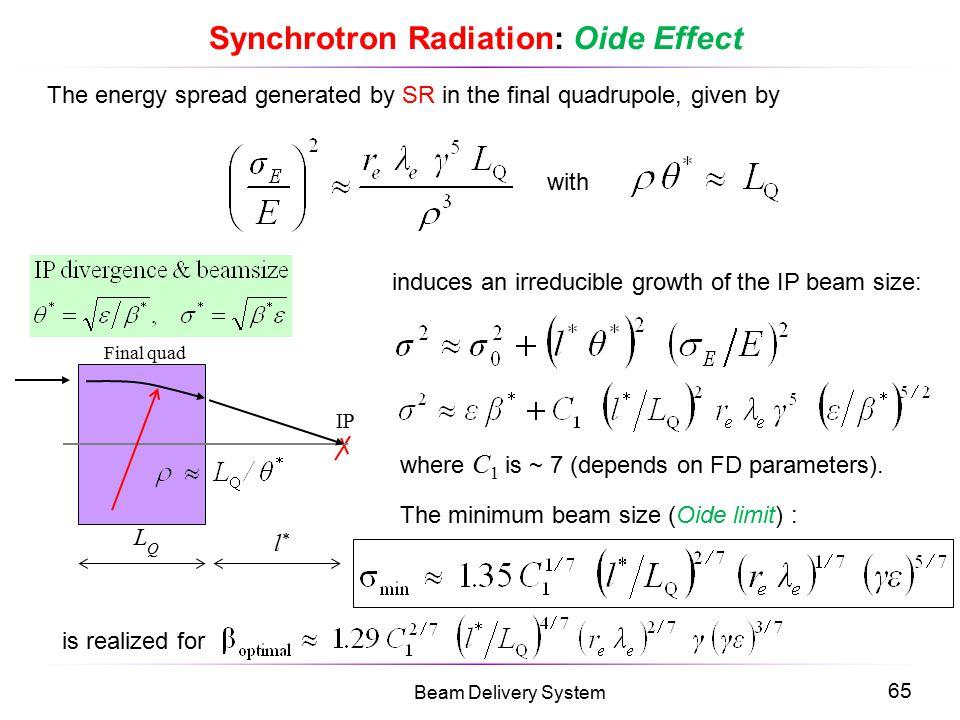 Synchrotron Radiation: Oide Effect