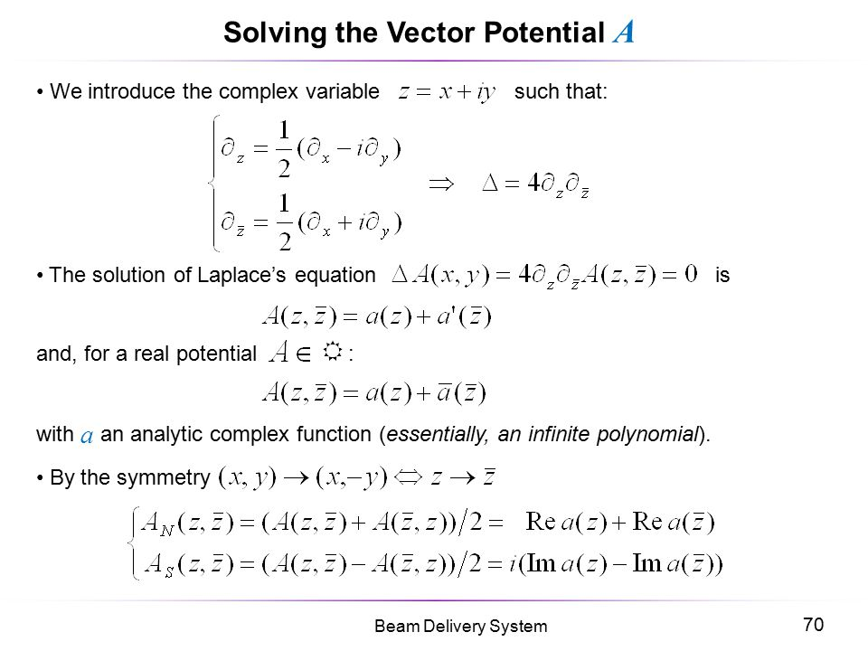 Solving the Vector Potential A