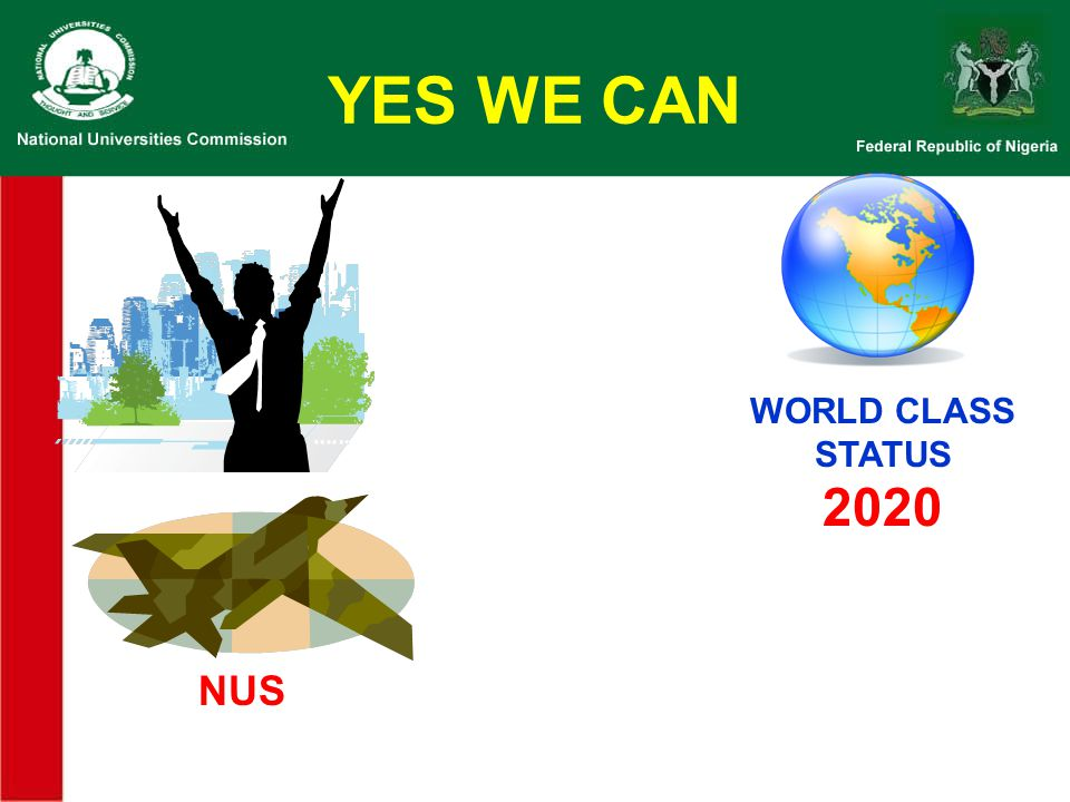 YES WE CAN WORLD CLASS STATUS 2020 NUS