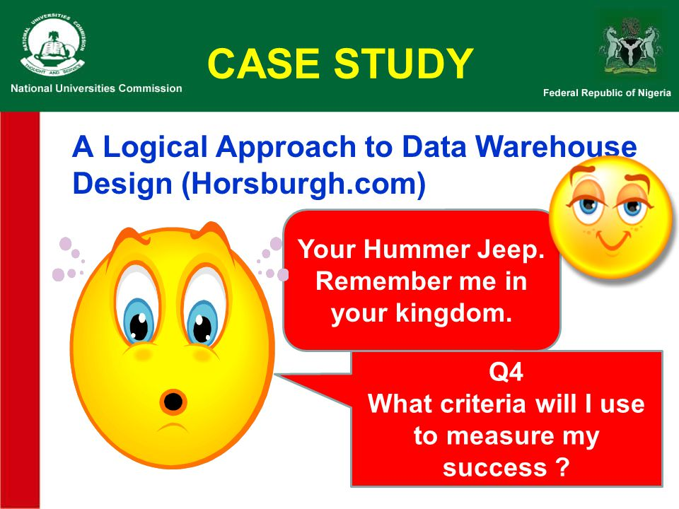 CASE STUDY A Logical Approach to Data Warehouse Design (Horsburgh.com)
