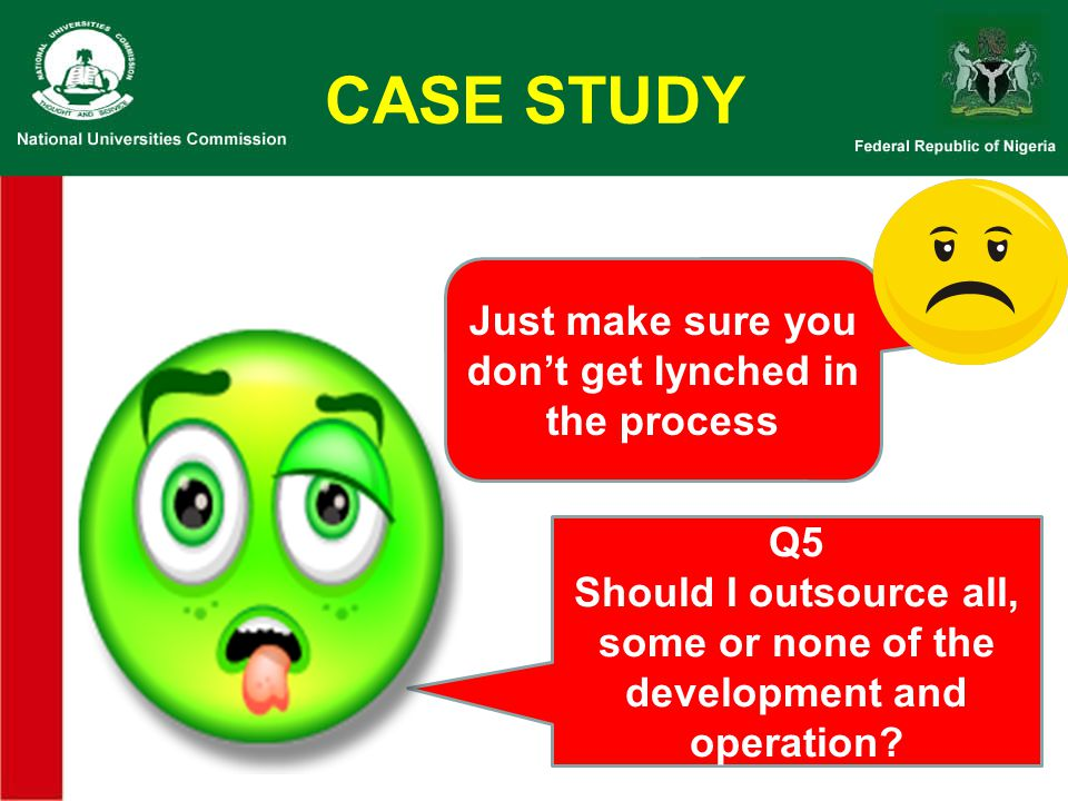 CASE STUDY Just make sure you don't get lynched in the process Q5