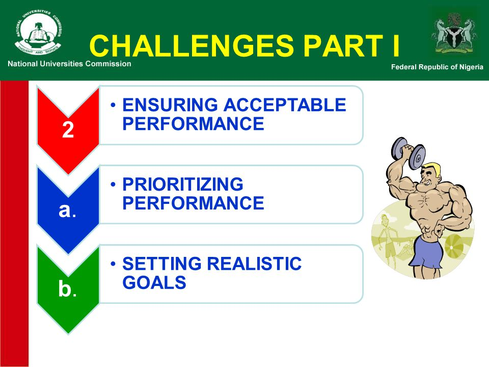 CHALLENGES PART I 2 ENSURING ACCEPTABLE PERFORMANCE a.