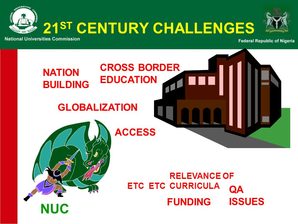 21ST CENTURY CHALLENGES NUC CROSS BORDER EDUCATION NATION BUILDING