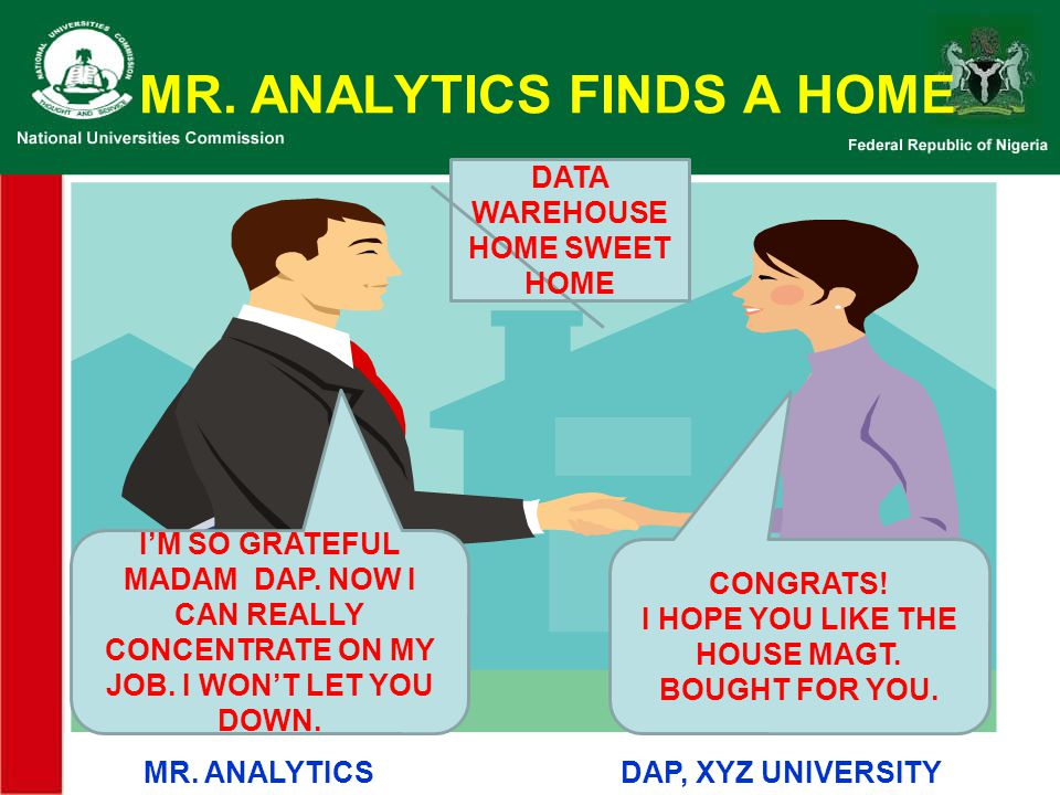 MR. ANALYTICS FINDS A HOME