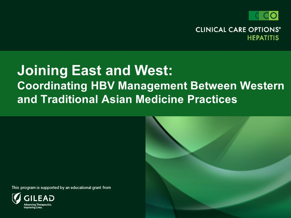 Joining East and West: Coordinating HBV Management Between Western and Traditional Asian Medicine Practices