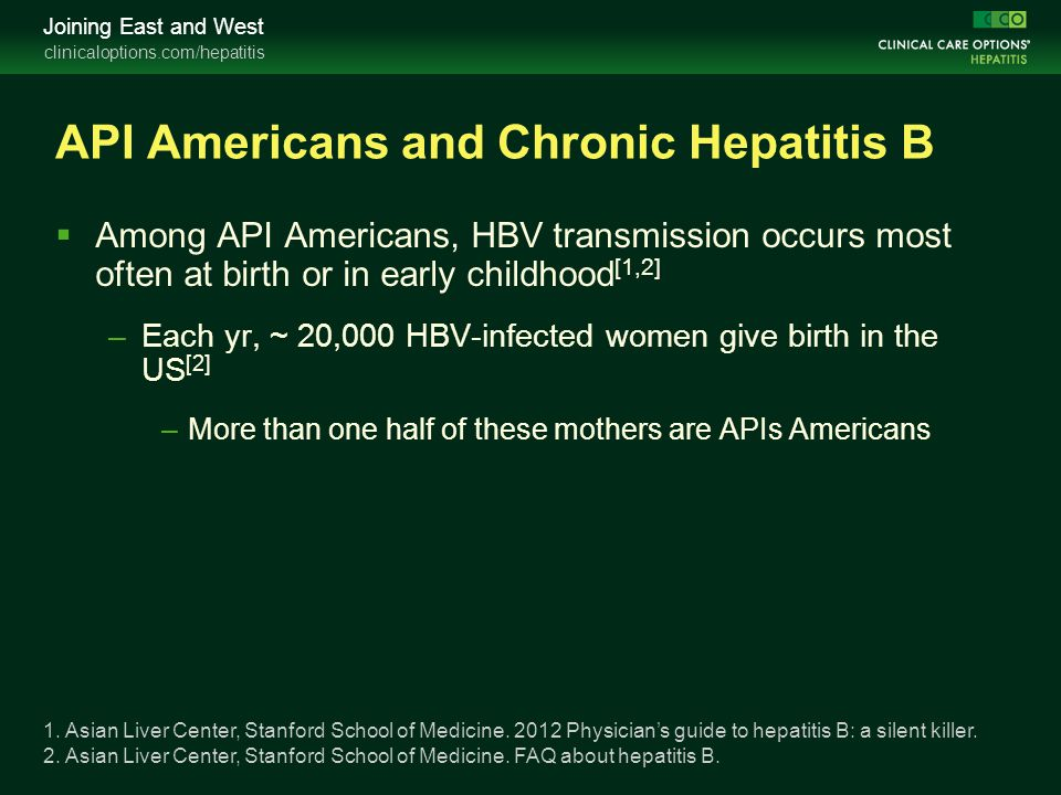 API Americans and Chronic Hepatitis B