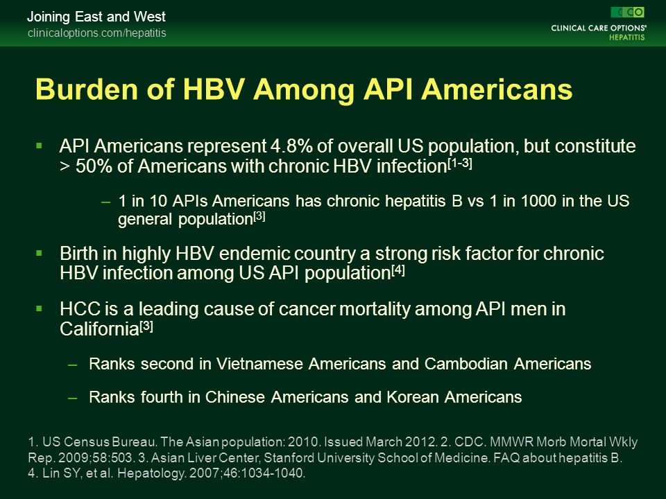 Burden of HBV Among API Americans
