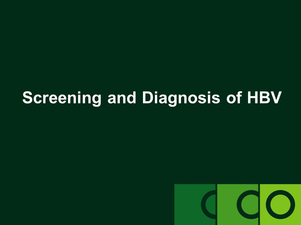 Screening and Diagnosis of HBV