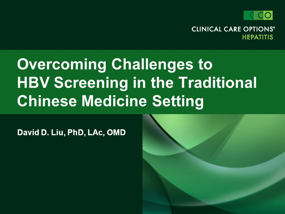 Overcoming Challenges to HBV Screening in the Traditional Chinese Medicine Setting