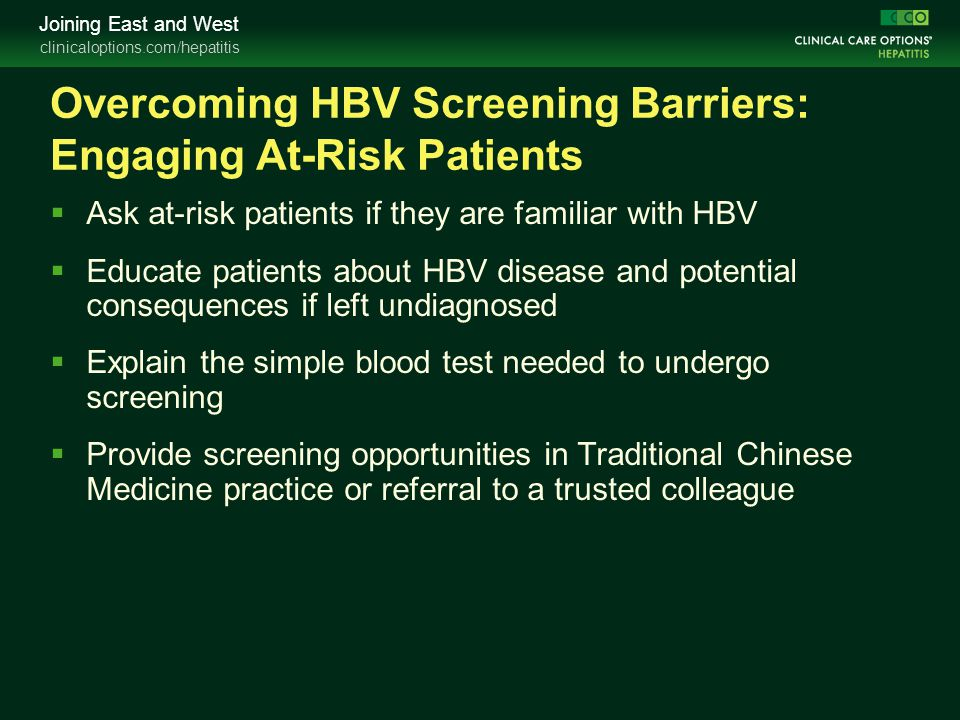Overcoming HBV Screening Barriers: Engaging At-Risk Patients
