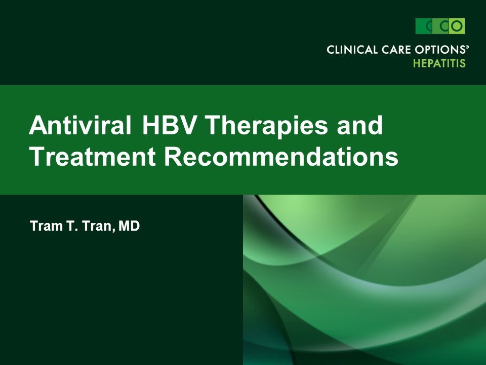 Antiviral HBV Therapies and Treatment Recommendations
