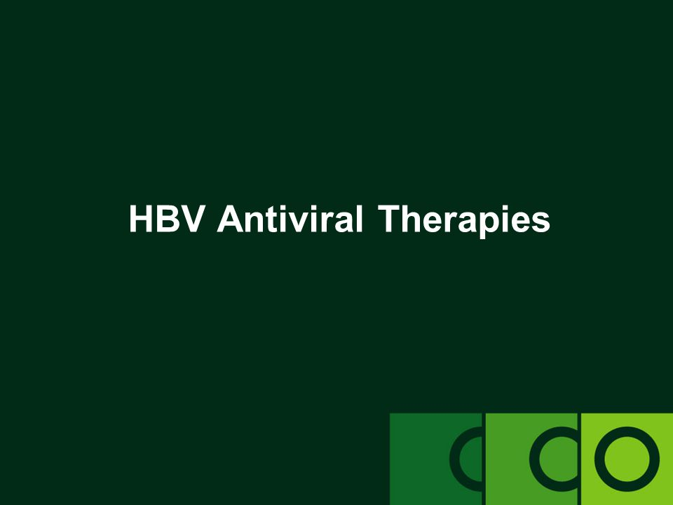 HBV Antiviral Therapies