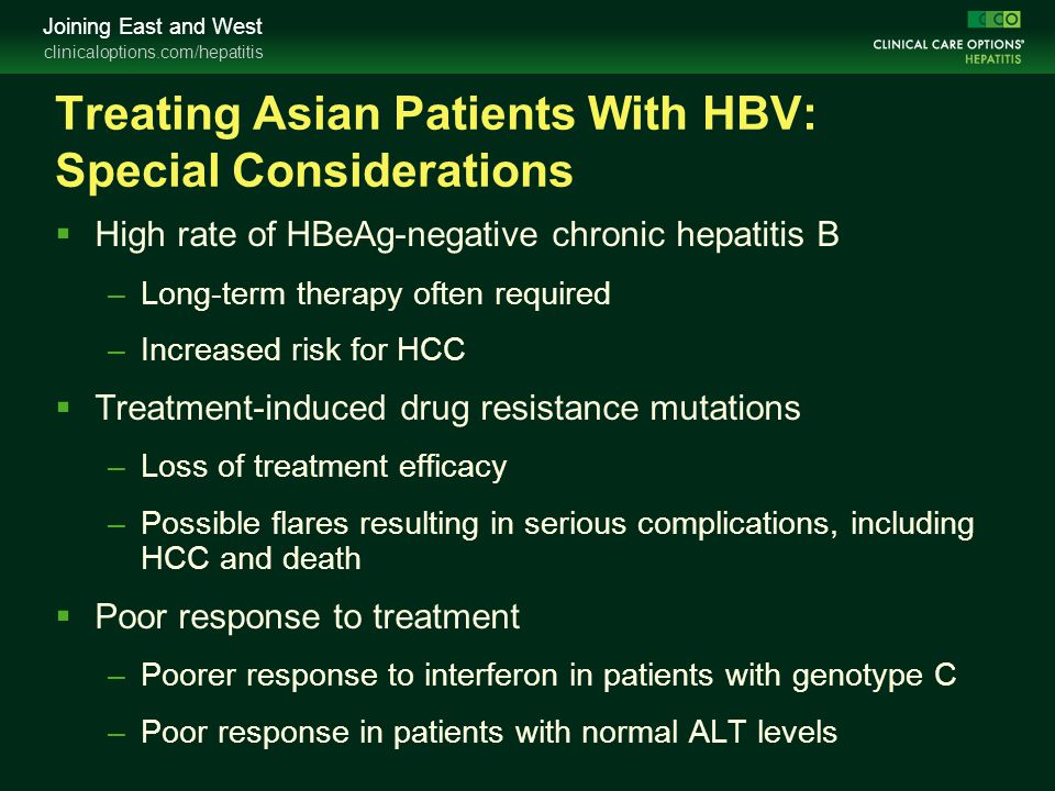 Treating Asian Patients With HBV: Special Considerations