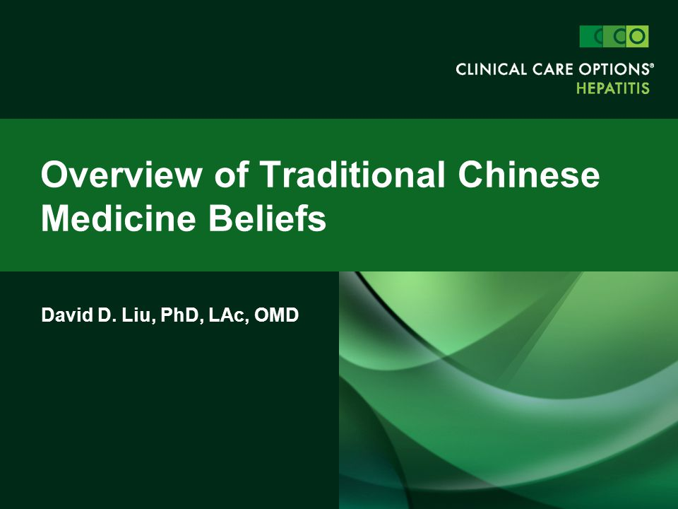 Overview of Traditional Chinese Medicine Beliefs