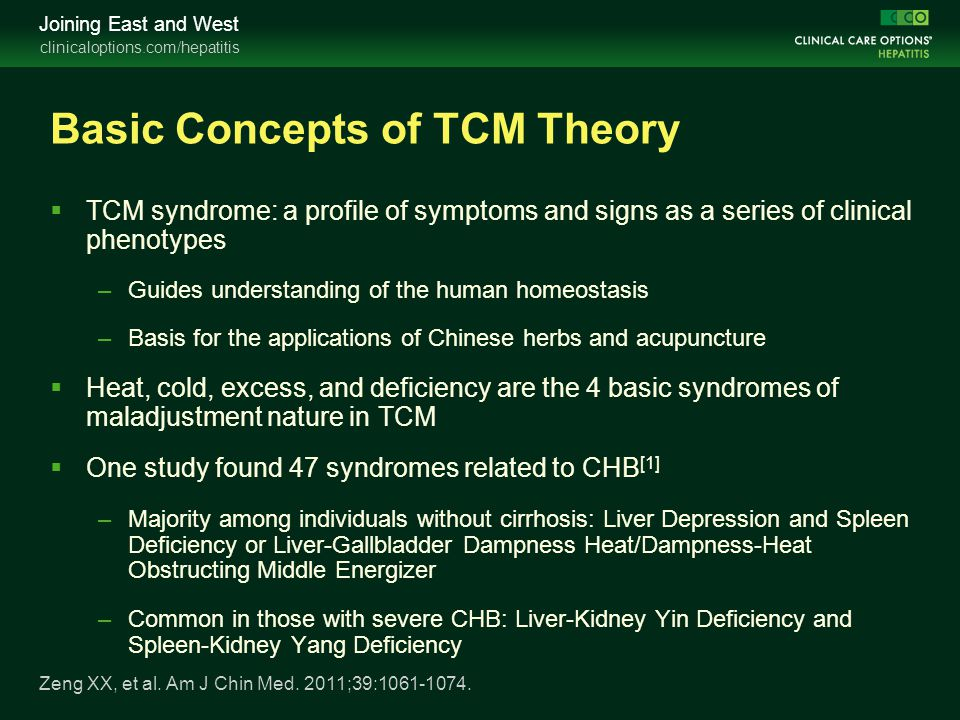 Basic Concepts of TCM Theory