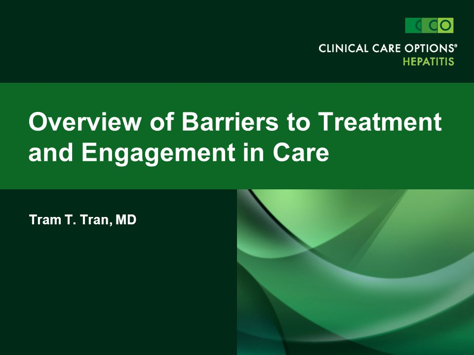 Overview of Barriers to Treatment and Engagement in Care