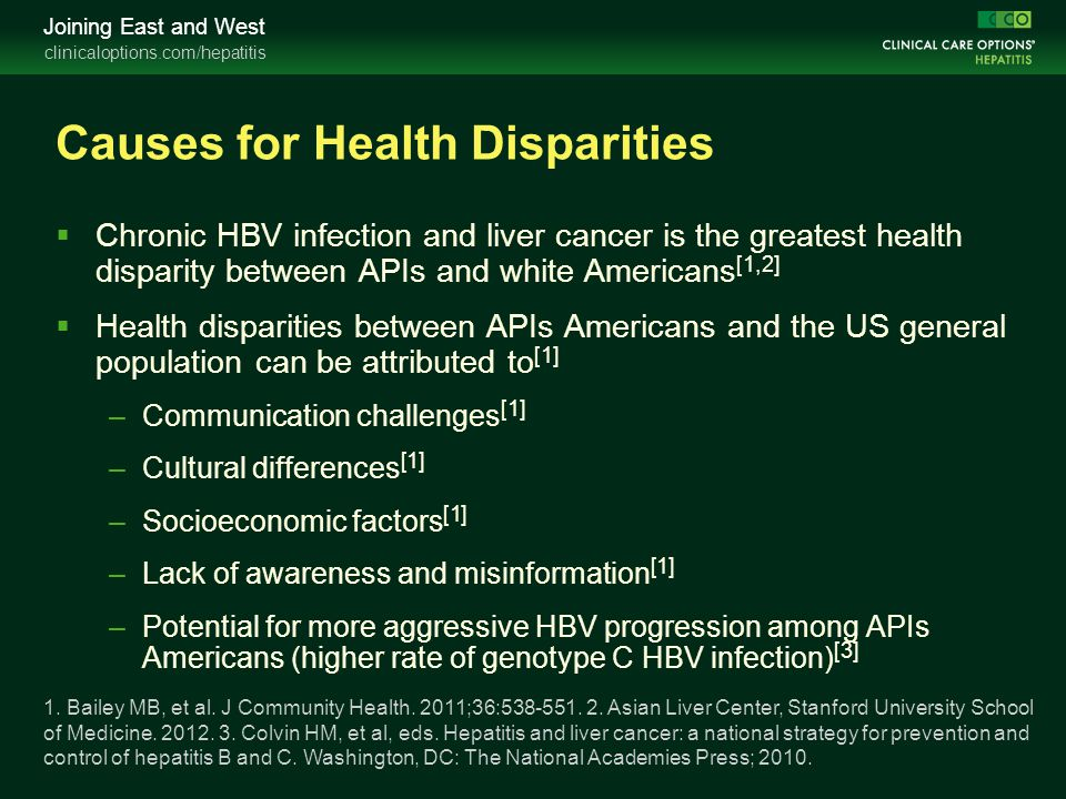 Causes for Health Disparities