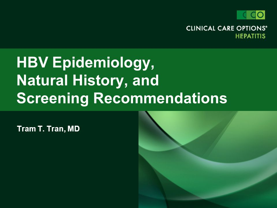 HBV Epidemiology, Natural History, and Screening Recommendations