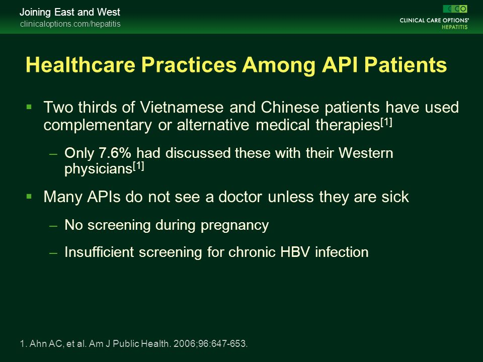Healthcare Practices Among API Patients