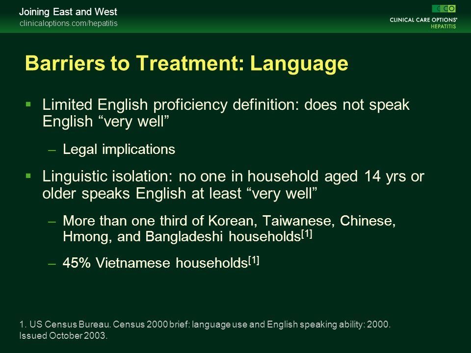 Barriers to Treatment: Language