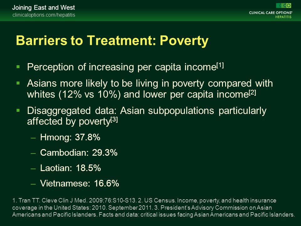 Barriers to Treatment: Poverty