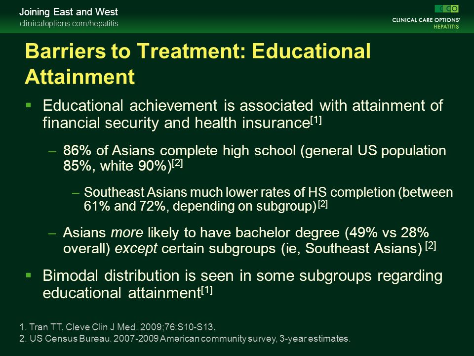 Barriers to Treatment: Educational Attainment